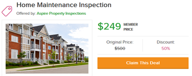 Angies List home maintenance inspection offer