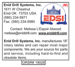 Enid Drill Systems, Rigs
