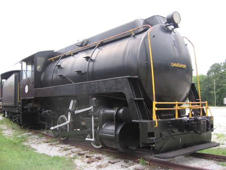 Alabama Power Company fireless locomotive No.40 built by Davenport in 1953 at the Heart of Dixie Railroad Museum.
