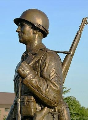 Army statue, army monument statue, custom sculpture