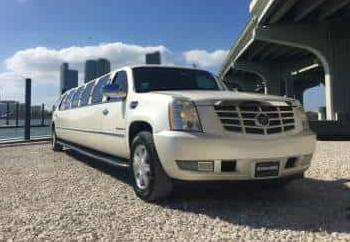 White Escalade Limo Service Fleet