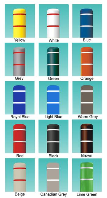 Colors of Post Guard Bollard Covers