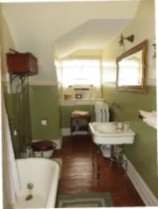 Original Bathroom at Rockcliffe Mansion, Hannibal Missouri