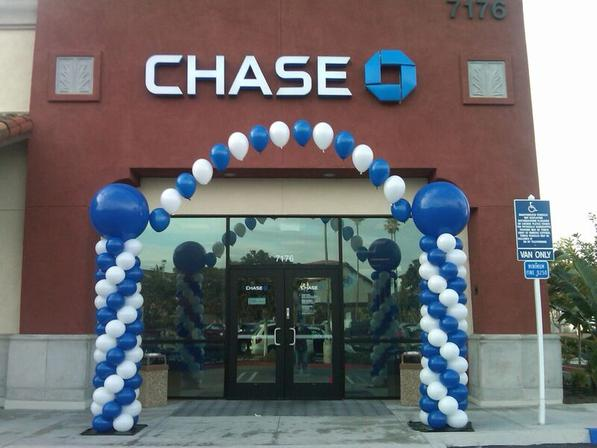 Balloon Arch Corporate Balloon Decoration Chase Bank