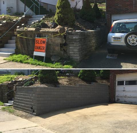Pittsburghs Retaining wall, And Patio Builders