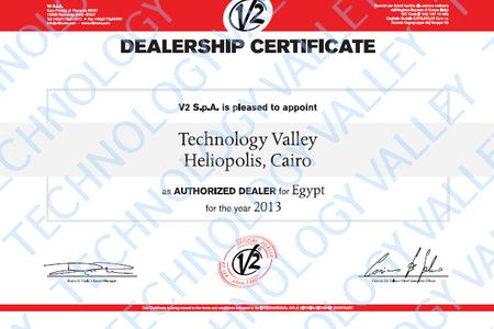 Dealership Certificate