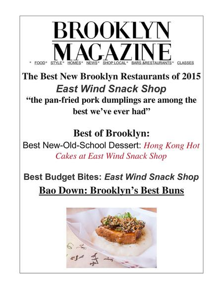 best new restaurant,best dessert, best dumplings