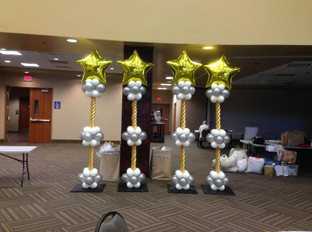 Business Awards Event Balloon Columns