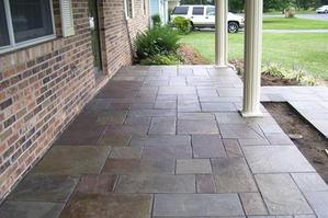 flagstone patio pattern