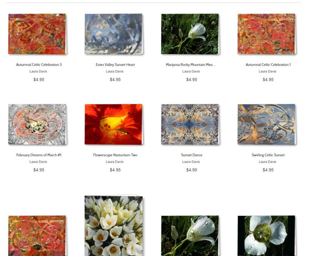 Greeting Cards from Fine Art Photo & Collage by Laura Davis