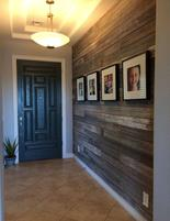 Custom wood wall entry Huntington Beach