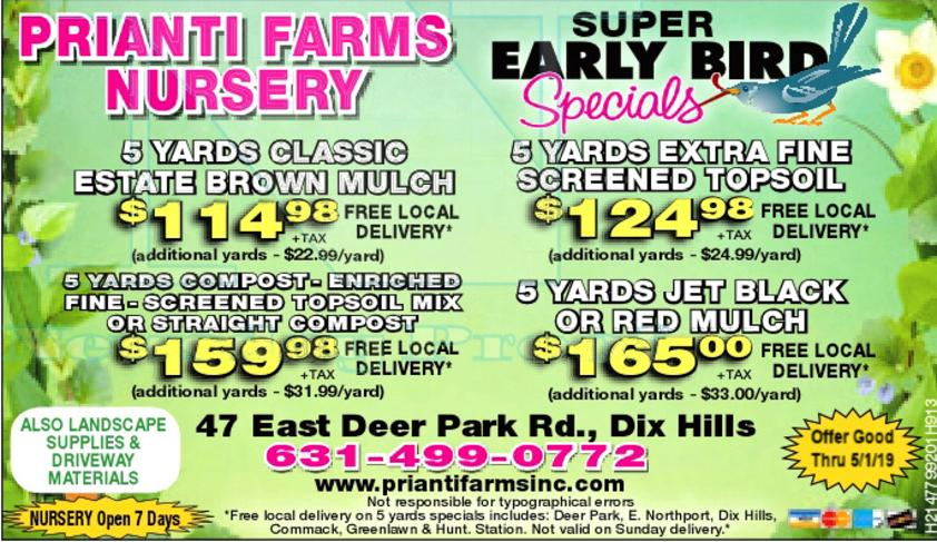 Prianti Firewood Sale Delivery Seasoned Plant Herbs Vegetables Flower Savings Special Sale Shrubs Trees Nursery Long Island