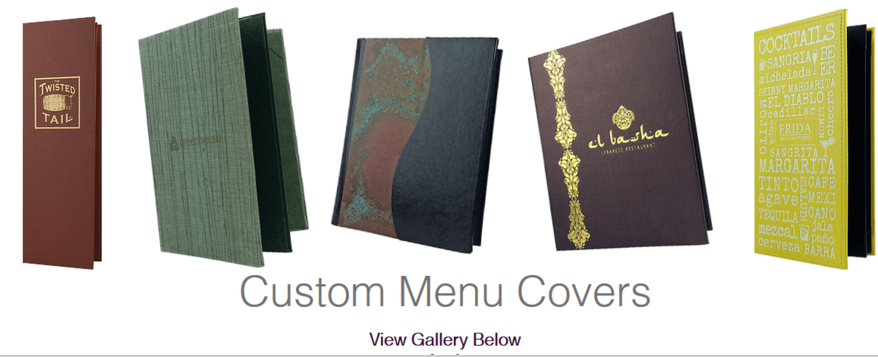 Custom Menu Catalog