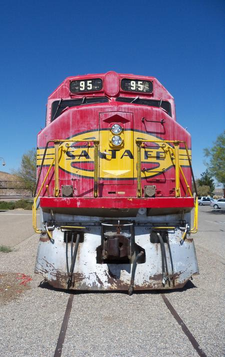 Front-end view of No. 95 at the Western America Railroad Museum, Barstow, California.