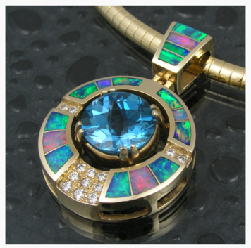 Australian opal pendant by The Hileman Collection.