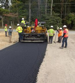 installing asphalt roads in Foxwood subdivision