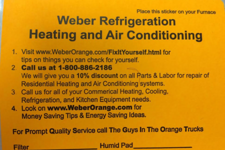 10% Discount Coupon Weber Refrigeration, Heating and Air Conditioning 711 N. Main Garden City, Ks