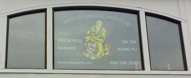 Budokan Martial Arts Window Sign