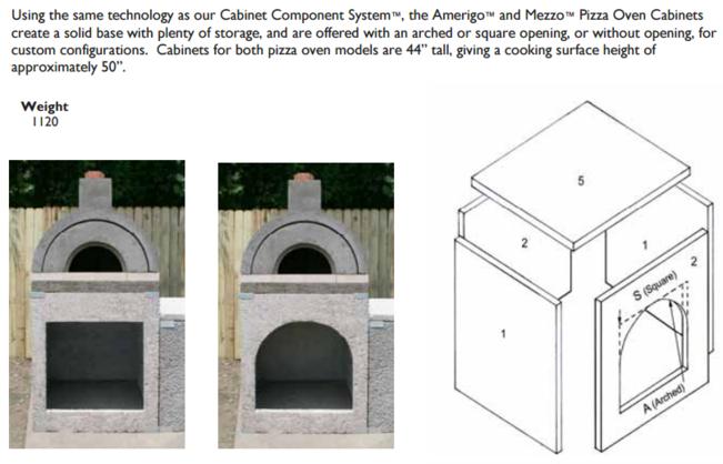 Stoneage Masonry Oven Base Cabinet