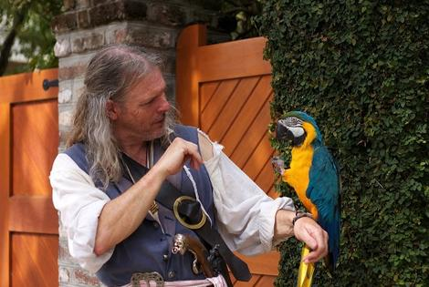 Charleston Pirate Tour Guide with parrot