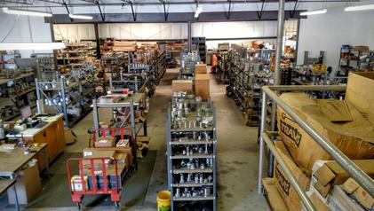 Warehouse full of in stock items