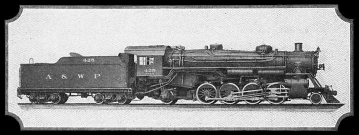 Atlanta and West Point Lima built 2-8-2 No. 425.