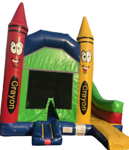indoor bounce house crayon bounce house crayon slide
