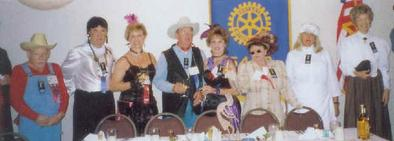 Cast of Downloadable DIY Wild West Murder Mystery Party Kit: Death in them thar hills from Jan Devlin, Rotary International, in Scottsdale, Arizona