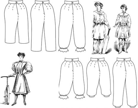 1850 – 1900 Bloomers, Turkish Trousers, or Knickerbockers Patternt