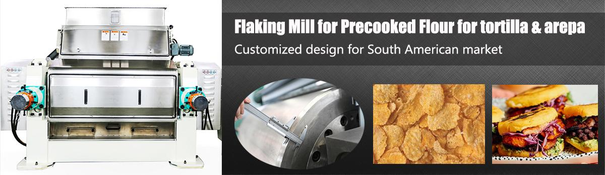 flaking mill for precooked flour