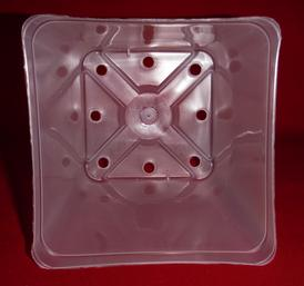clear plastic orchid pot 5.5 inch square holes UV McConkey