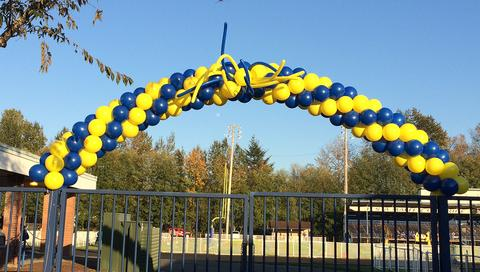 High School Football Game Balloon Arch School Colors