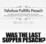 The Last Supper was NOT Passover
