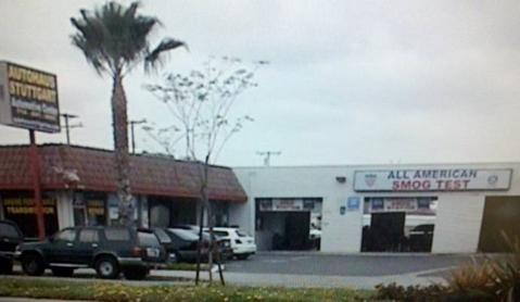 All American Smog Test Station Location Street View Westminster CA