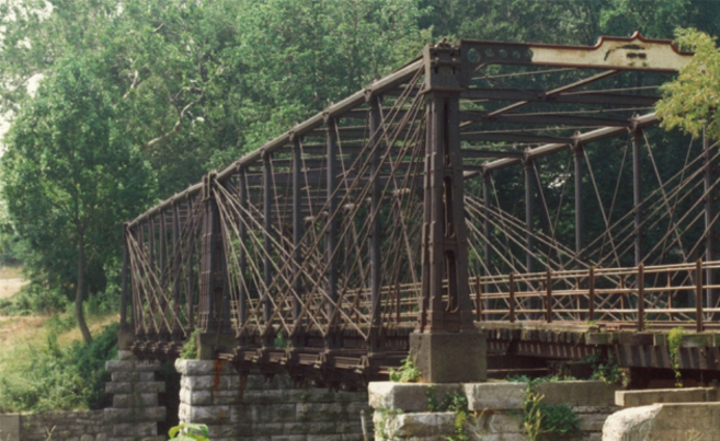 The existing Bollman Bridge in 1982, prior to the 1983-84 rehabilitation work by WM&A.