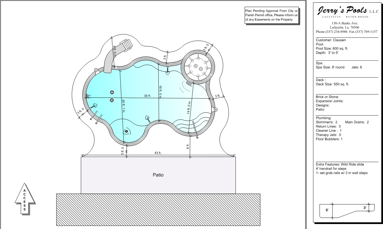 Swimming Pool Blueprints Interior Design