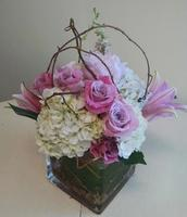 NB-MD16-4 Hydrangea, Lilies, and Roses.