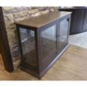 Alder display cabinet with frame and panel glass doors