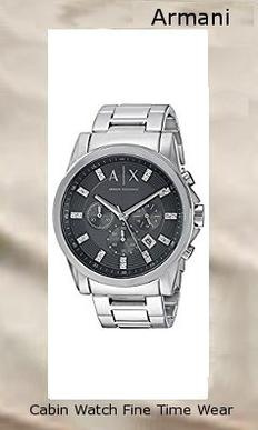 Armani Exchange Men's AX2092 Silver Watch,armani
