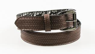 The Añel belts are made with the finest Italian braided calfskin leather.