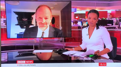 Craig Lawrence and Lukwesa Burak talking about Gurkhas in Burma on BBC News on #VJDay75