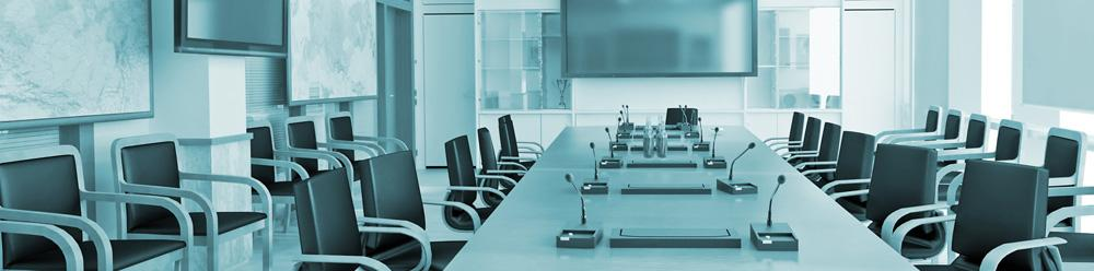 executive conference room in Wichita commercially cleaned by Buzz Maintenance
