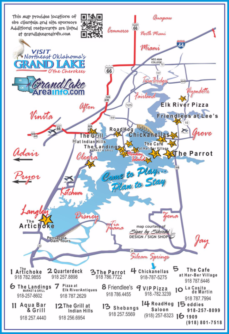 northeast OK grand Lake restaurants