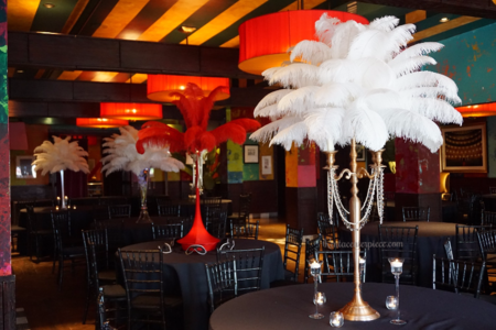 Ostrich Feather Lamp Shade Manzanita Tree Candelabra Wedding ...