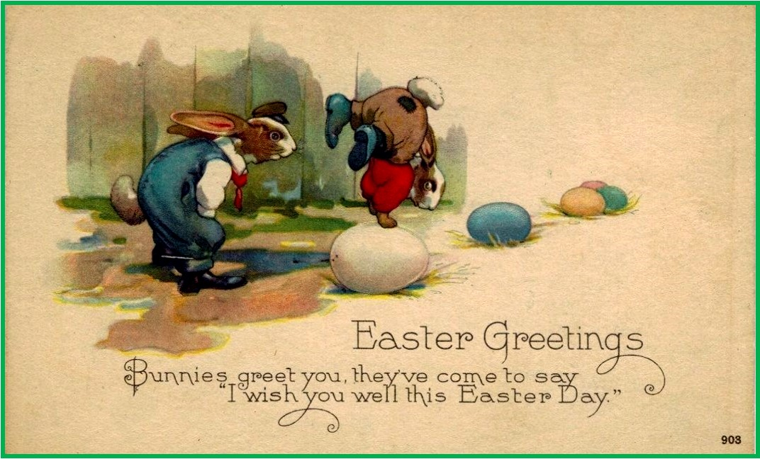 Easter Antique Victorian Era Retro and Vintage Style Holiday Cards – Victorian Easter Cards