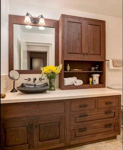 Reclaimed wood bathroom cabinets Los Alamitos