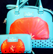 Painted Leather Purses