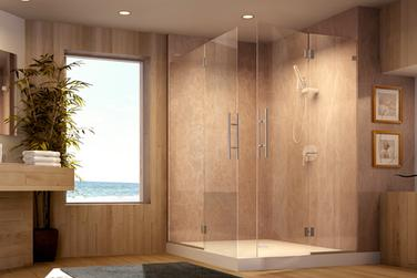 Picture of custom framless shower