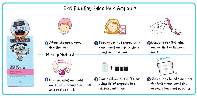 Image result for EZN PUDDING HAIR AMPOULE