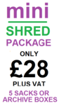 Mini Shred Domestic Shredding Pricing